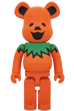 BE@RBRICK GRATEFUL DEAD DANCING BEARS ORANGE 1000%