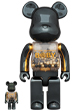 MY FIRST BE@RBRICK INNERSECT BLACK & GOLD Ver.100% & 400%