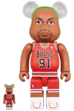 BE@RBRICK Dennis Rodman(Chicago Bulls) 100% & 400%