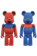 BE@RBRICK GRATEFUL DEAD DANCING BEARS 100%